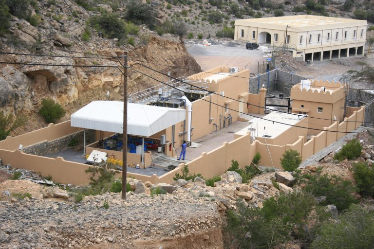 Sewage treatment facilities at Jabal Akthar